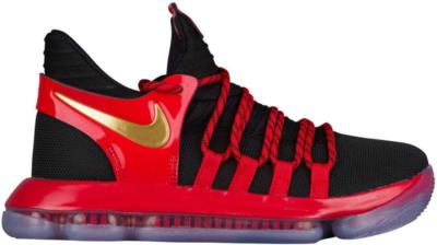 Nike KD 10 Bred (GS) Black/Metallic Gold-University Red-Bright Crimson AJ7220-076