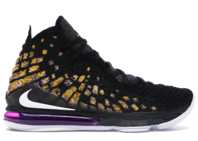 Nike LeBron 17 Lakers Black/White-Eggplant-Amarillo BQ3177-004/BQ3178-004