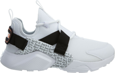 Nike Air Huarache City Low Just Do It Pack White (W) White/White-Black-Total Orange AO3140-100
