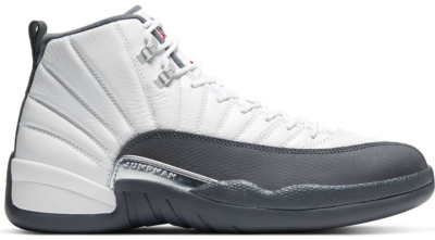 Jordan 12 Retro White Dark Grey White/Dark Grey-Gym Red 130690-160