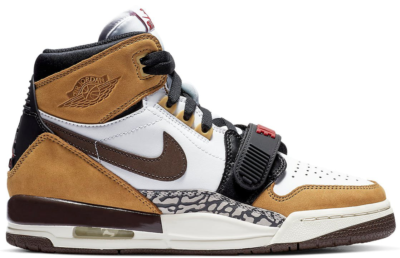 Jordan Legacy 312 Rookie of the Year (GS) White/Baroque Brown-Wheat-Varsity Red AT4040-102
