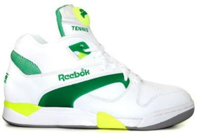Reebok Court Victory Pump Michael Chang White/Green/Citron J-14306