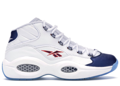 Reebok Question Mid Blue Toe 2016 White/Pearlized Navy/Red J82534