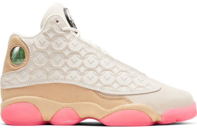 Jordan 13 Retro Chinese New Year 2020 (PS) Pale Ivory/Black-Digital Pink-Club Gold CW4682-100