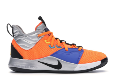 Nike PG 3 NASA (GS) Total Orange/Black-Metallic Silver CI8973-800