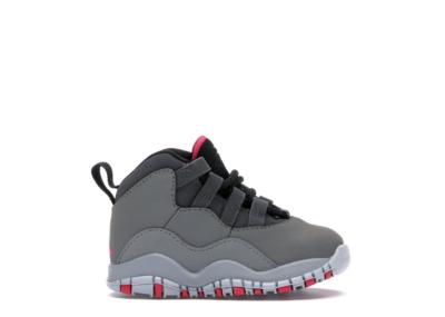 Jordan 10 Retro Rush Pink (TD) Dark Smoke Grey/Rush Pink-Black-Iron Grey 705416-006