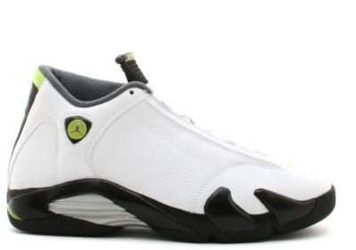 Jordan 14 Retro White Chartreuse White/Chartreuse-Black 311832-132