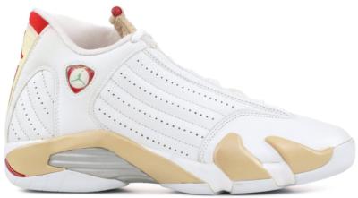 Jordan 14 Retro Linen (W) White/Varsity Red-Linen-Classic Green 312274-161
