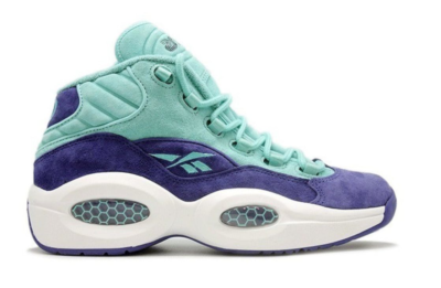 Reebok Question Mid Packer Shoes SNS About Crocus Teal/Purple/White V63447