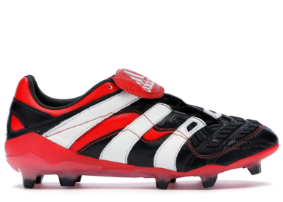 adidas Predator Accelerator Firm Ground Cleat Black White Red Core Black/Cloud White/Red D96665