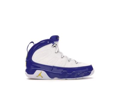 Jordan 9 Retro Kobe Bryant PE (PS) White/Concord-Tour Yellow 401811-121