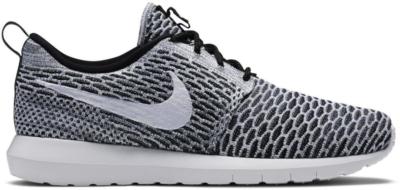 Nike Roshe Run Flyknit Black White Black/White-Dark Grey 677243-008