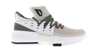 adidas D Lillard 3 Arthur Ashe BHM White/Core Black/White BY3474