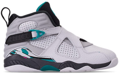 Jordan 8 Retro South Beach (PS) White/White-Turbo Green-Neutral Grey 305369-113