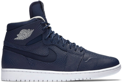 Jordan 1 Retro Nouveau Navy Snake Midnight Navy/Light Bone-White 819176-407