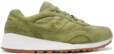 Saucony Shadow 6000 Olive Suede (Packer Shoes) Olive/White S70222-8