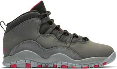 Jordan 10 Retro Rush Pink (PS) Dark Smoke Grey/Rush Pink-Black-Iron Grey 487212-006