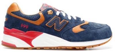 "New Balance 999 Sneaker Politics ""Detectives Curse"" Navy/Tan-Red ML999SP"