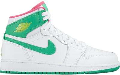 Jordan 1 Retro High Easter 2017 (GS) White/Gamma Green-Vivid Pink-Cyber 332148-134