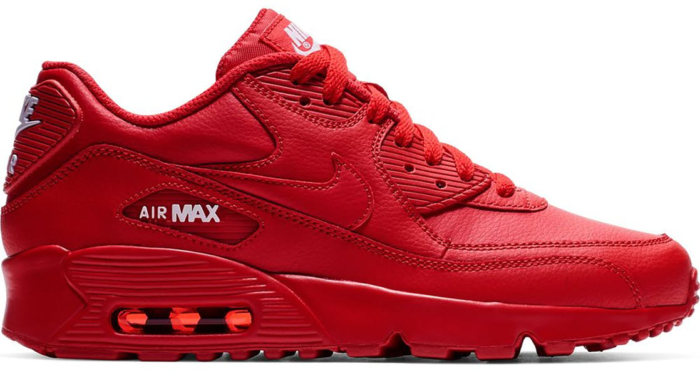 Nike Air Max 90 University Red (GS) University Red/White-University Red  833412-606