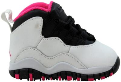 Jordan Air Jordan 10 Retro Pure Platinum Vivid Pink Black (TD) Pure Platinum Vivid Pink Black 705416-008