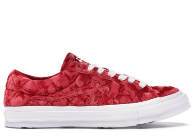 Converse One Star Ox Golf Le Fleur TTC Quilted Velvet Barbados Cherry 165598C