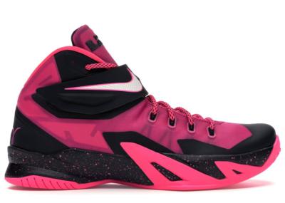 Nike Zoom LeBron Soldier 8 Think Pink Pinkfire II/White-Black-Hyper Pink 653641-610