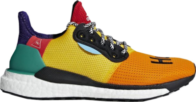adidas Solar Hu Glide Pharrell Multi-Color (W) Cloud White/Collegiate Burgundy/Yellow DB3038