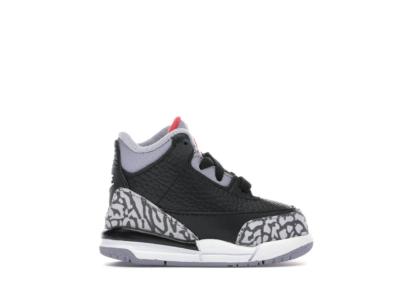 Jordan 3 Retro Black Cement 2018 (TD) Black/Fire Red-Cement Grey-White 832033-021