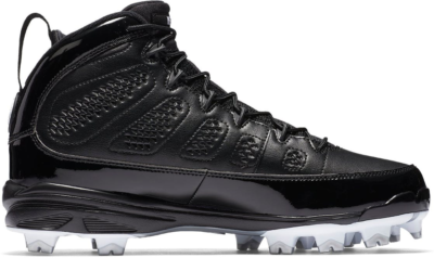 Jordan 9 Retro MCS Cleat RE2PECT Black Black/White-Metallic Silver-White AA1264-011