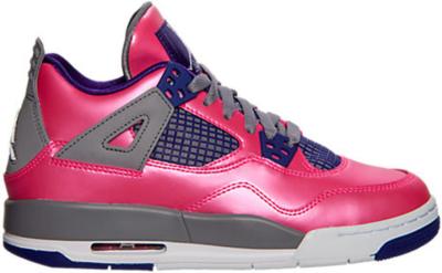 Jordan 4 Retro Pink Foil (GS) Pink Foil/White-Cement Grey-Electric Purple 487724-607
