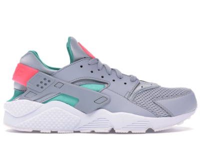 Nike Air Huarache Run South Beach Wolf Grey/Sunset Pulse-Kinetic Green-White 318429-053