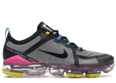 Nike Air VaporMax 2019 Moon Particle Multi-Color Moon Particle/Black-Pink Blast-Blue Lagoon-Bright Citron CI9891-200