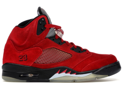 Jordan 5 Retro DMP Raging Bull Red Suede Varsity Red/Black 136027-601