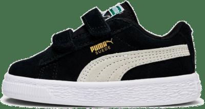 Puma Suede baby-sneakers met twee bandjes Zwart / Wit 356274_01