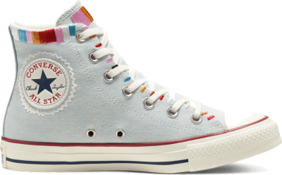 Converse Self-Expression Chuck Taylor All Star High Top voor dames Blue Tint/Multi/Egret 567991C