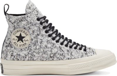 Converse Unisex Boucle Wool Chuck 70 High Top White/ Black 166132C