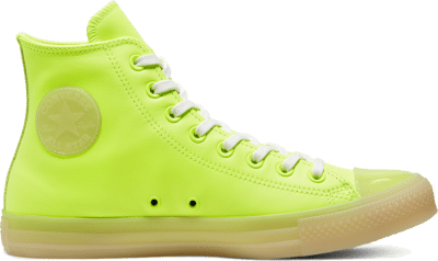 Converse Unisex Neon Leather Chuck Taylor All Star High Top White 166567C