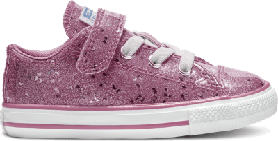 Converse Chuck Taylor All Star Galaxy Glimmer Hook and Loop Low Top Pink 765110C