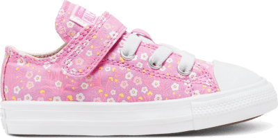 Converse Ditsy Floral Easy-On Chuck Taylor All Star Low Top Schoen Peony Pink/Topaz Gold/White 766882C