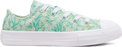 Converse Ditsy Floral Chuck Taylor All Star Low Top Schoen Ocean Mint/Topaz Gold/White 666880C