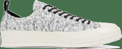Converse Unisex Fleece-Lined Leather Chuck 70 Low Top White/ Black 166254C