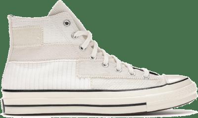Converse Mono Patchwork Chuck 70 High Top White Egret 167139C