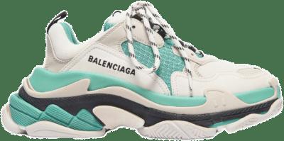 Balenciaga Balencaiga Triple S White Grey Turquoise (W) 524039W09OH3005