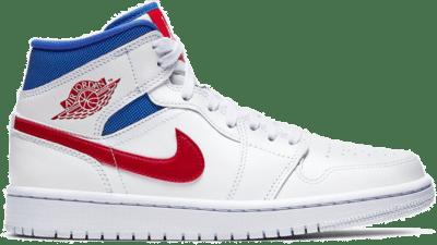 Jordan 1 Mid White Red Royal (W) BQ6472-164