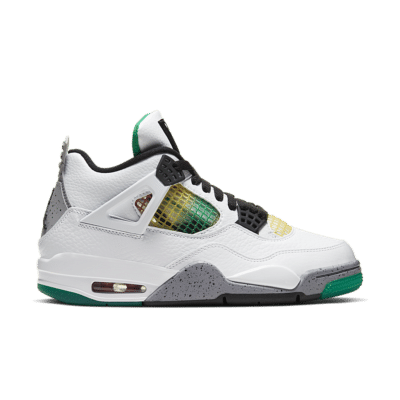 Women's Air Jordan 4 'Lucid Green' White/University Red/Lucid Green/Black AQ9129-100