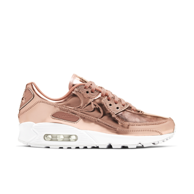 Nike Women's Air Max 90 Metallic 'Rose Gold' Rose Gold/Metallic Red Bronze/White/Rose Gold CQ6639-600