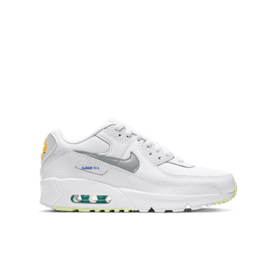 Nike Air Max 90 White Laser Orange Aurora (GS) CZ5868-100
