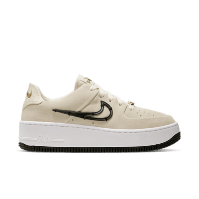 Nike Air Force 1 Sage Low LX Light Cream Black (W) CI3482-200