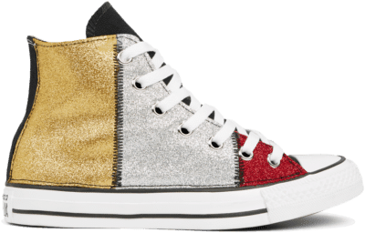 Converse Chuck Taylor All Star Multicolour Glitter High Top Black/ White 165776C